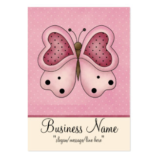 Pink Butterfly w/ Polka Dots Chubby Business Card