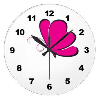 Pink Butterfly Wall Clocks