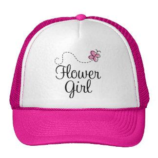 Pink Butterfly Wedding Party Flowergirl Cap Trucker Hat