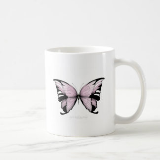Pink Butterfly Wild Rose Bishop Coffee Mug