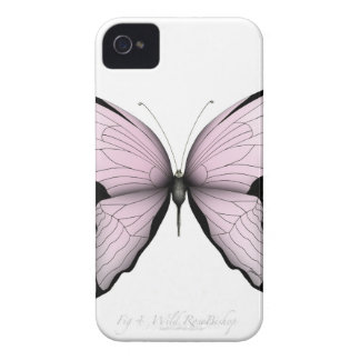 Pink Butterfly Wild Rose Bishop iPhone 4 Case-Mate Case
