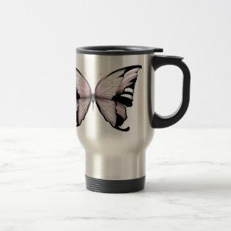 Pink Butterfly Wild Rose Bishop Travel Mug