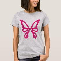 Pink Butterfly Women's Basic T-Shirt