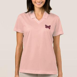 Pink Butterfly Women's Nike Dri-FIT Pique Polo