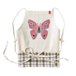 Pink butterfly zazzle HEART apron