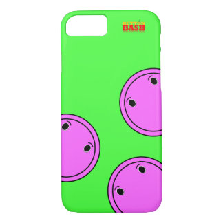 Pink ButtonBash Lime colored iPhone 7 case