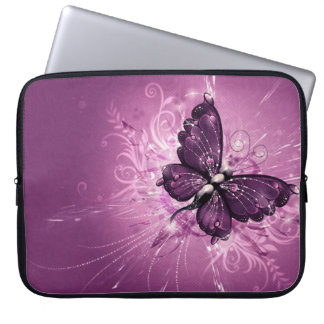 Pink Buttrfly Laptop Sleeve 15 inch