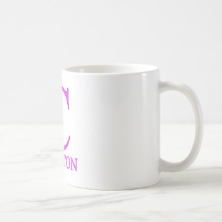 Pink C for Hillary Clinton Mugs