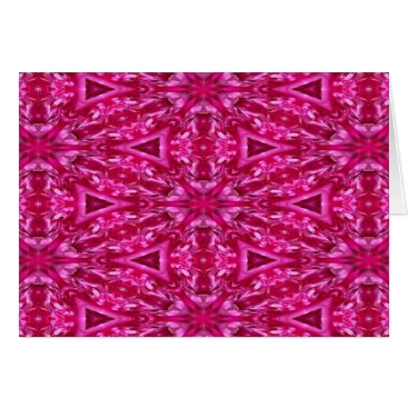 celestesheffey pink cabbage rose triangles  5072 card