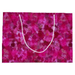 Pink cabbage rose triangles 5080 large gift bag
