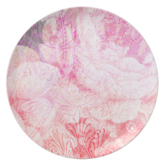 Pink Cabbage Roses plate