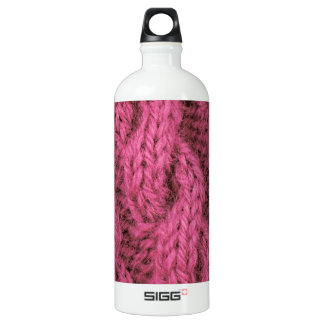 Pink cable knitting SIGG traveler 1.0L water bottle