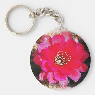 Pink Cactus Bloom Keychains