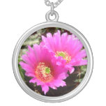 Pink cactus blossom necklace