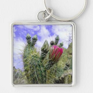 Pink Cactus Flower Keychain