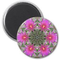 Pink Cactus Flower Fridge Magnet