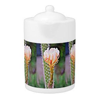 Pink Cactus Flower Tea Pot