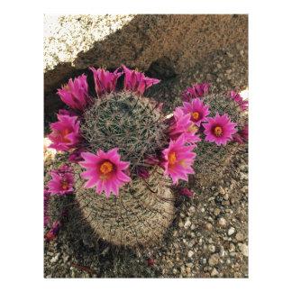 Pink Cactus in Bloom Letterhead