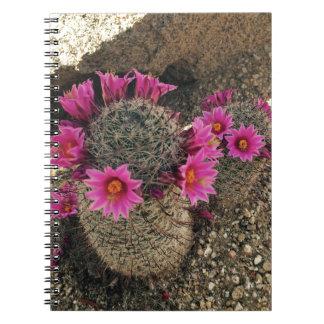 Pink Cactus in Bloom Notebook