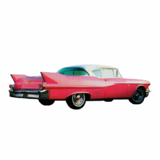 Pink Cadillac Sculpture Photo Cut Out