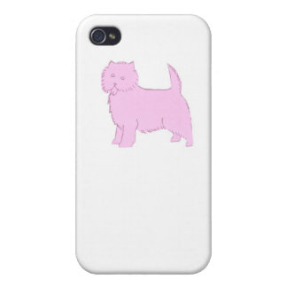 Pink Cairn Terrier iphone Hard Cover Case iPhone 4 Covers