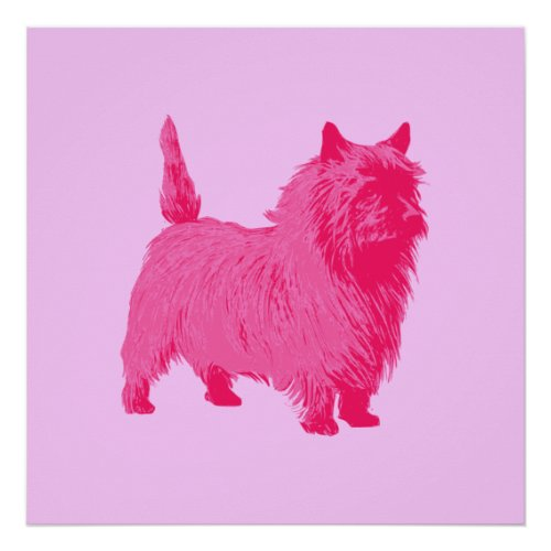 Pink Cairn Terrier Poster print
