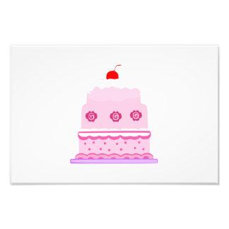 Pink cake cartoon photographic print
