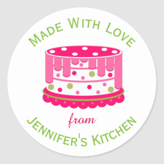 Pink Cake Custom Baked Goods Sticker