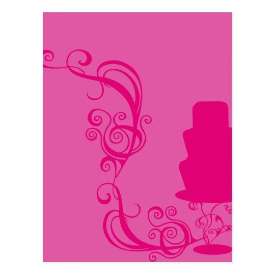 Pink Cake Illustration Postcard