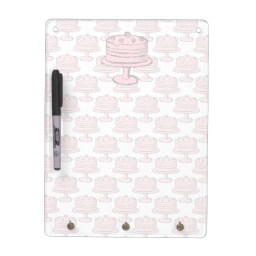 Pink Cake on Pink Cake Pattern. Dry-Erase Board