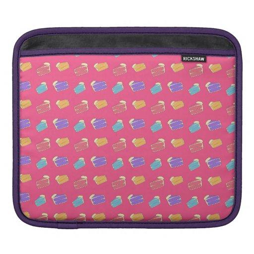 Pink cake pattern iPad sleeves