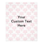 Pink Cake Pattern with Custom Text. Personalized Flyer