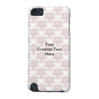 Pink Cake Pattern with Custom Text. iPod Touch 5G Cover