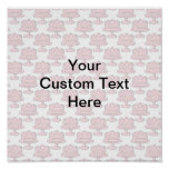 Pink Cake Pattern with Custom Text. Poster