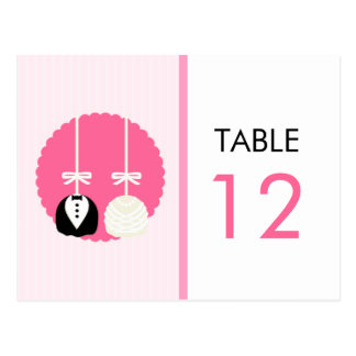 Pink Cake Pop Table Number Card