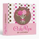 Pink Cake Pops Recipe Binder