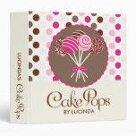 Pink Cake Pops Recipe Binder (ivory)