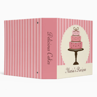 Pink Cake Recipe Binder