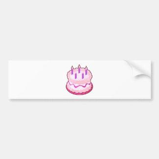 Pink CAKE  Sweet Celebrations Bumper Sticker