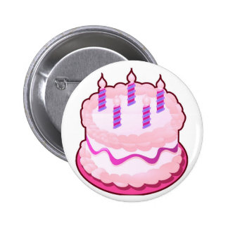Pink CAKE  Sweet Celebrations 2 Inch Round Button