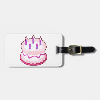 Pink CAKE  Sweet Celebrations Tag For Luggage