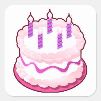 Pink CAKE  Sweet Celebrations Square Sticker