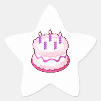 Pink CAKE  Sweet Celebrations Star Sticker