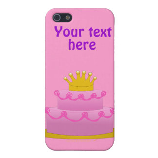 Pink Cake With Crown Birthday iPhone 5 Cover
