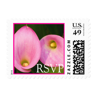 Pink Cala Lilies RSVP Stamp