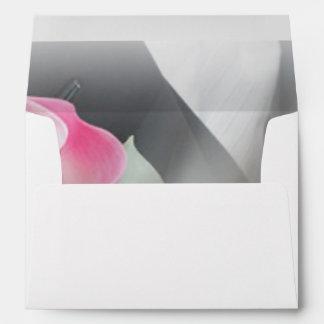 Pink Cala Lily Wedding Envelope
