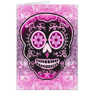 Pink Calavera Card