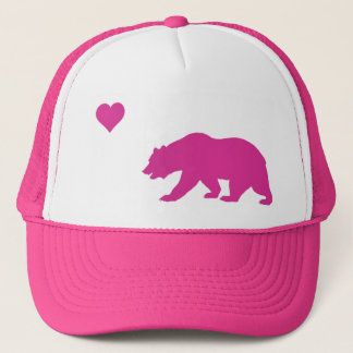 Pink California Love Trucker Hat