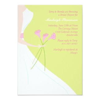 Pink Calla Lilies Bridal Shower Invitation