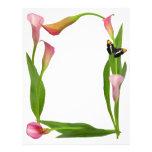 Pink Calla Lilies Letterhead